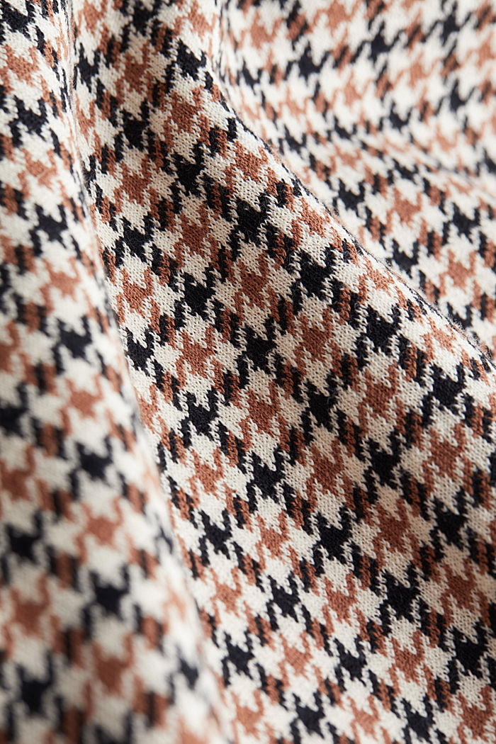 Houndstooth jumper, 100% cotton, OFF WHITE, detail image number 4