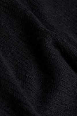 Alpaca blend: V-neck jumper, BLACK, detail