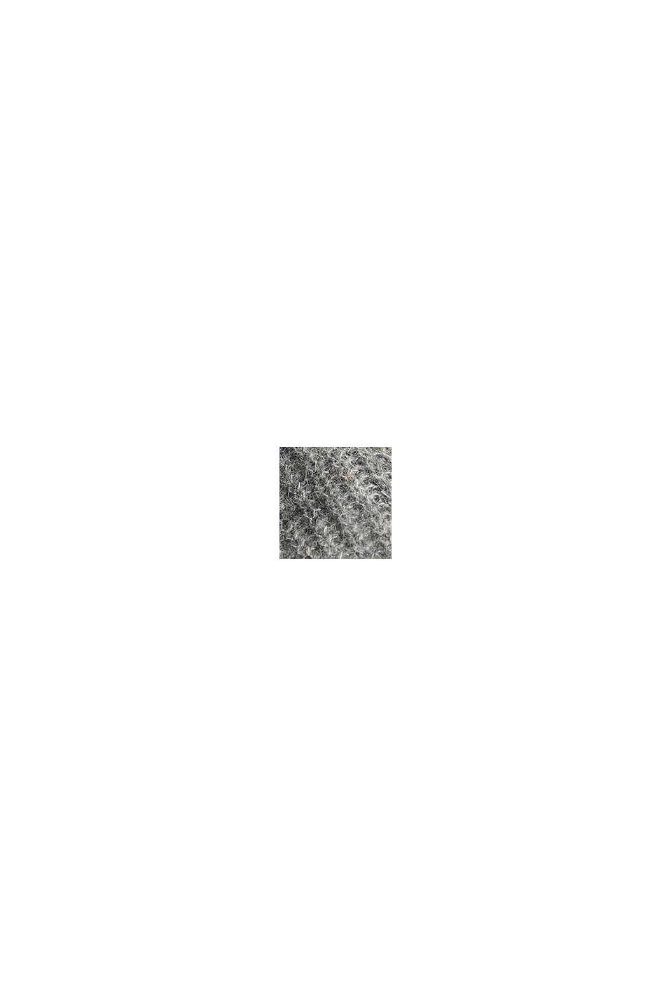 Mit Alpaka: Pullover mit V-Ausschnitt, GUNMETAL, swatch