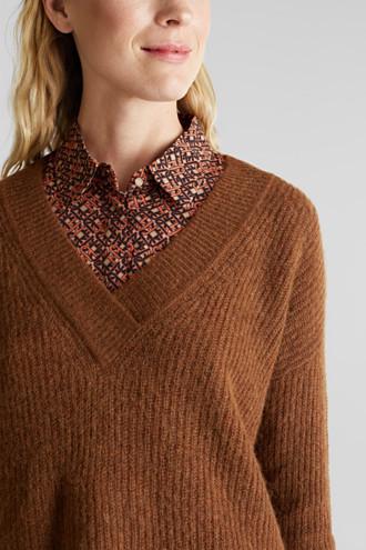 Alpaca blend: V-neck jumper