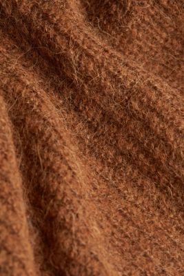 Alpaca blend: V-neck jumper, TOFFEE 5, detail