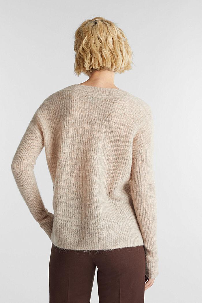 Alpaca blend: V-neck jumper, SAND, detail image number 3