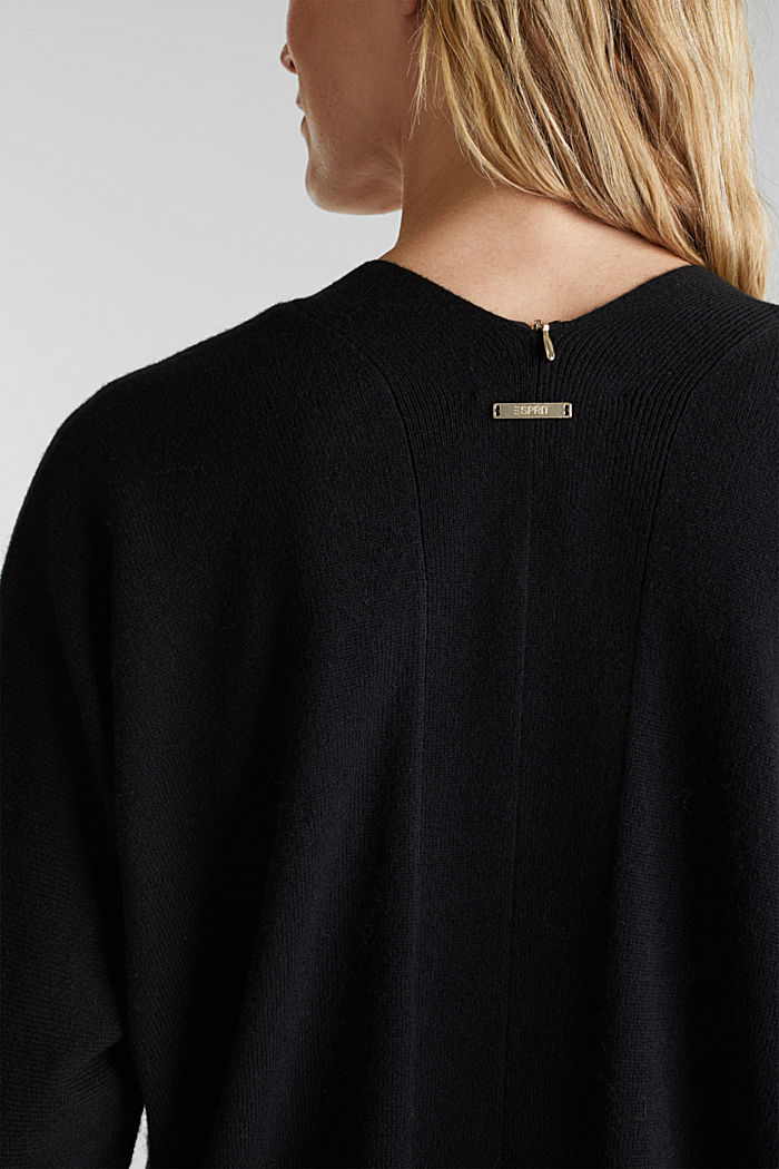 Cardigan made of 100% cashmere, BLACK, detail image number 2