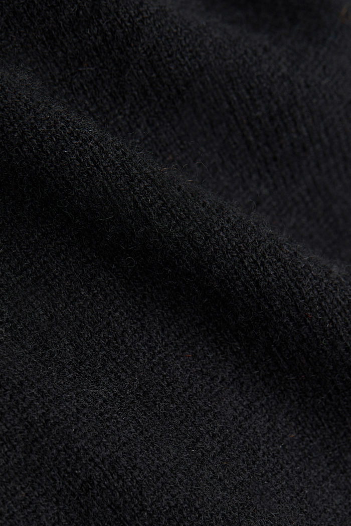 Cardigan made of 100% cashmere, BLACK, detail image number 4