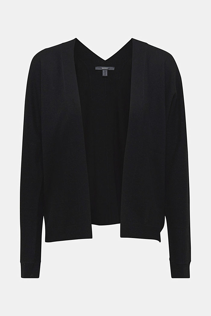 Cardigan made of 100% cashmere, BLACK, detail image number 6