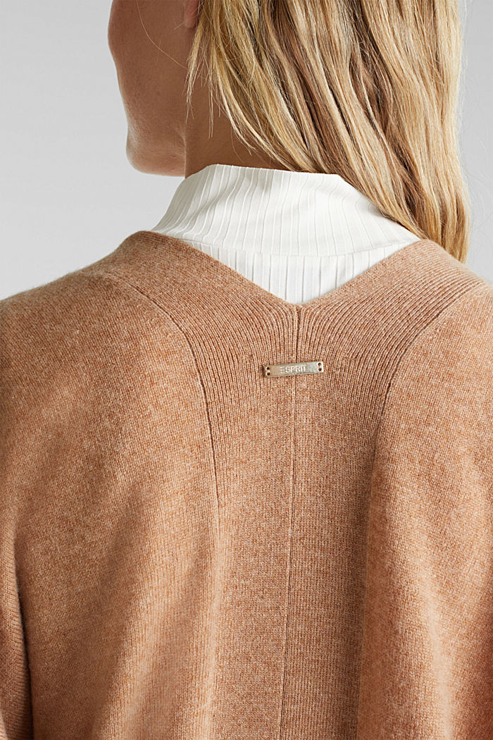 Cardigan made of 100% cashmere, CAMEL, detail image number 2
