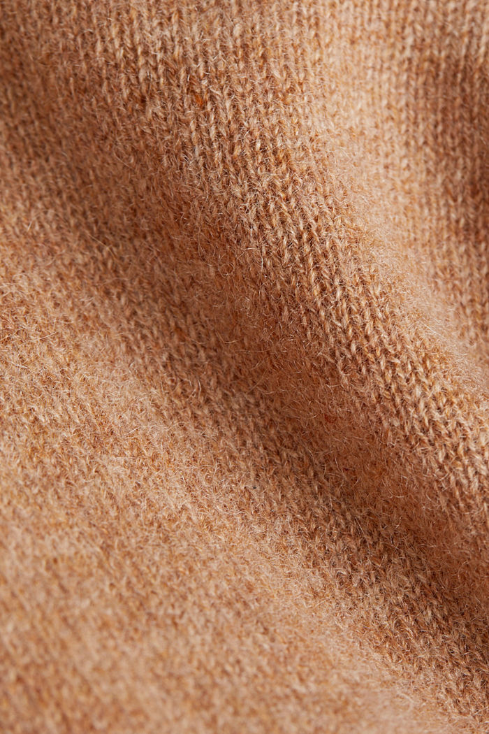 Cardigan made of 100% cashmere, CAMEL, detail image number 4