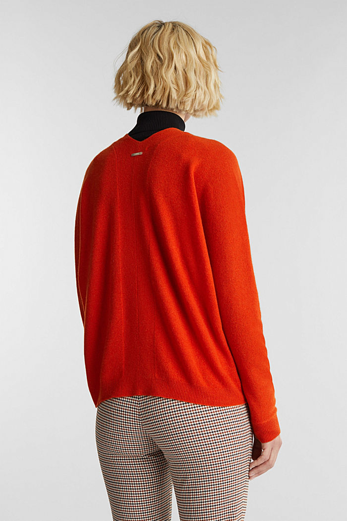 Cardigan made of 100% cashmere, RUST ORANGE, detail image number 3