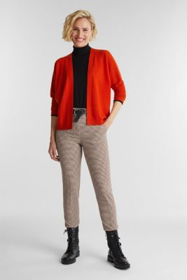 Cardigan made of 100% cashmere, RUST ORANGE, detail