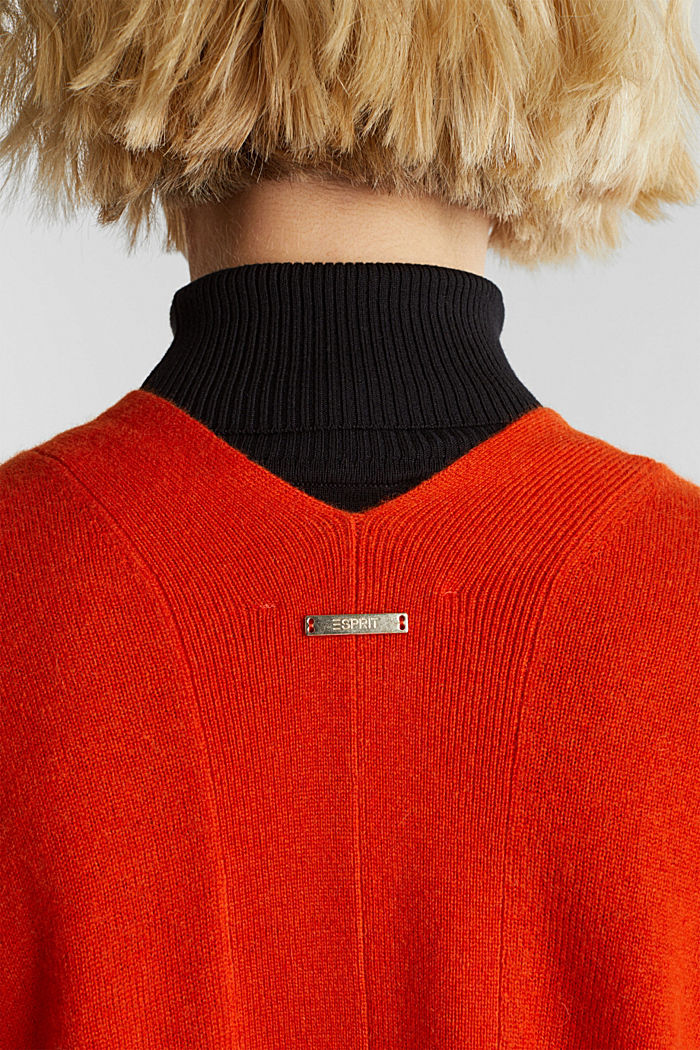 Cardigan made of 100% cashmere, RUST ORANGE, detail image number 2
