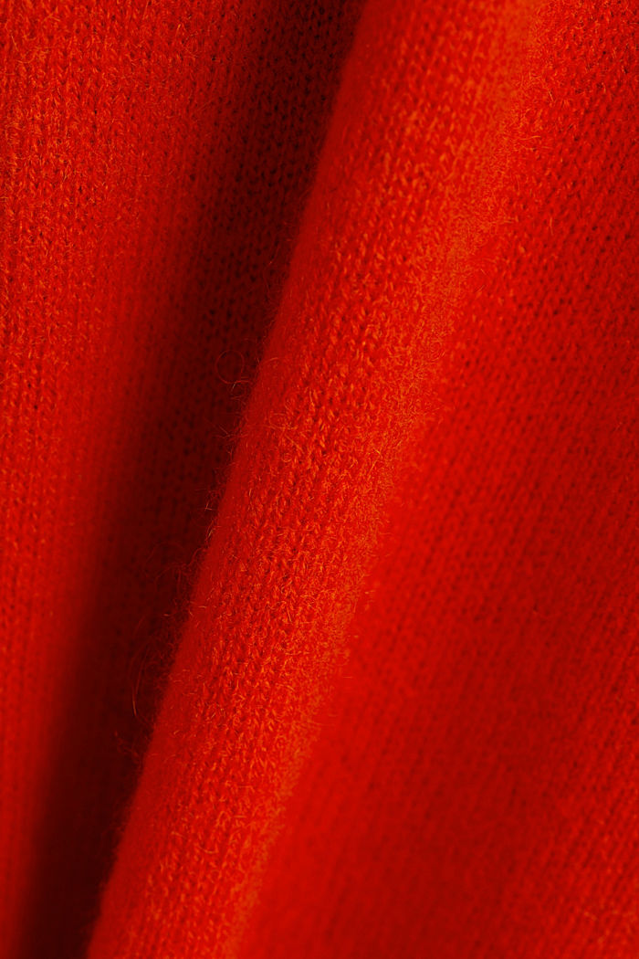 Cardigan made of 100% cashmere, RUST ORANGE, detail image number 4