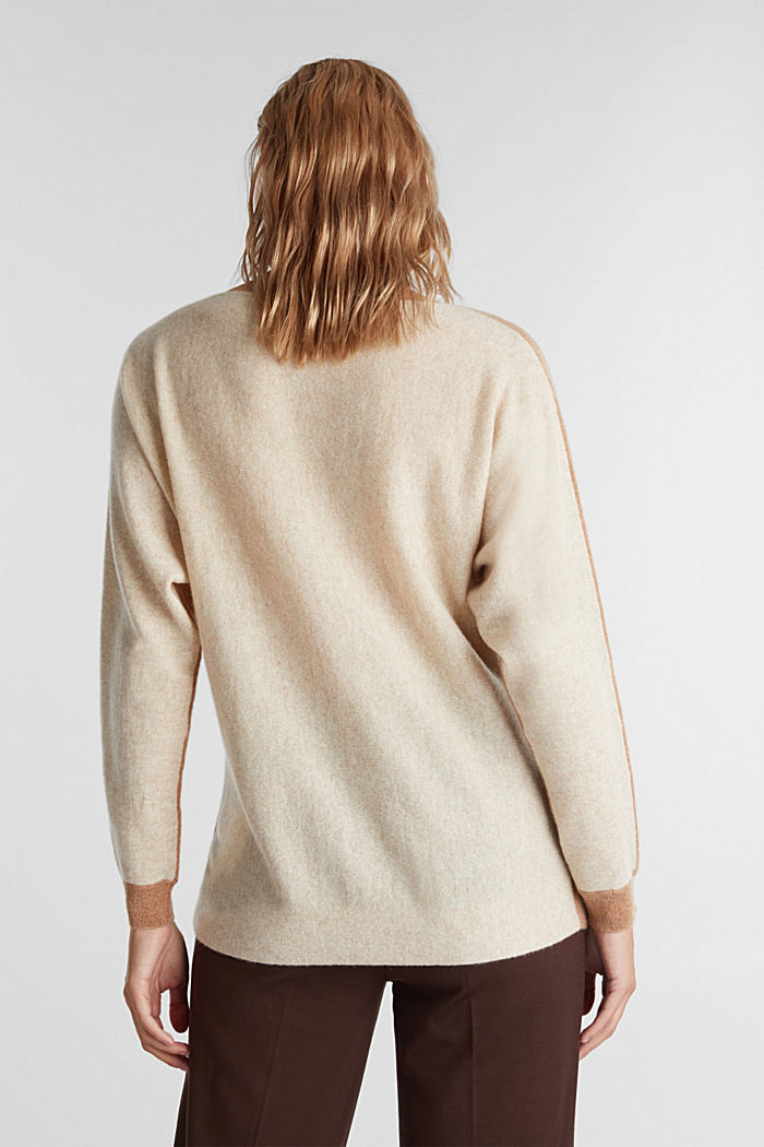 100% Kaschmir: Fledermaus-Pullover, CAMEL, detail image number 3