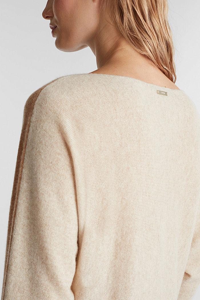 100% Kaschmir: Fledermaus-Pullover, CAMEL, detail image number 2