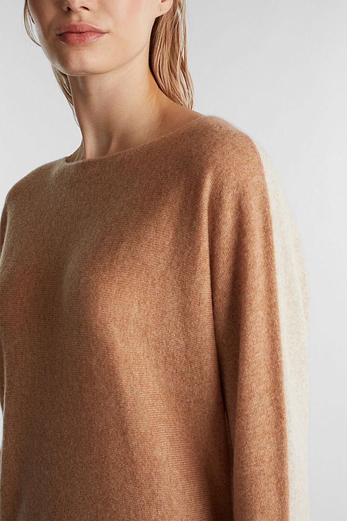 100% Kaschmir: Fledermaus-Pullover, CAMEL, detail image number 5