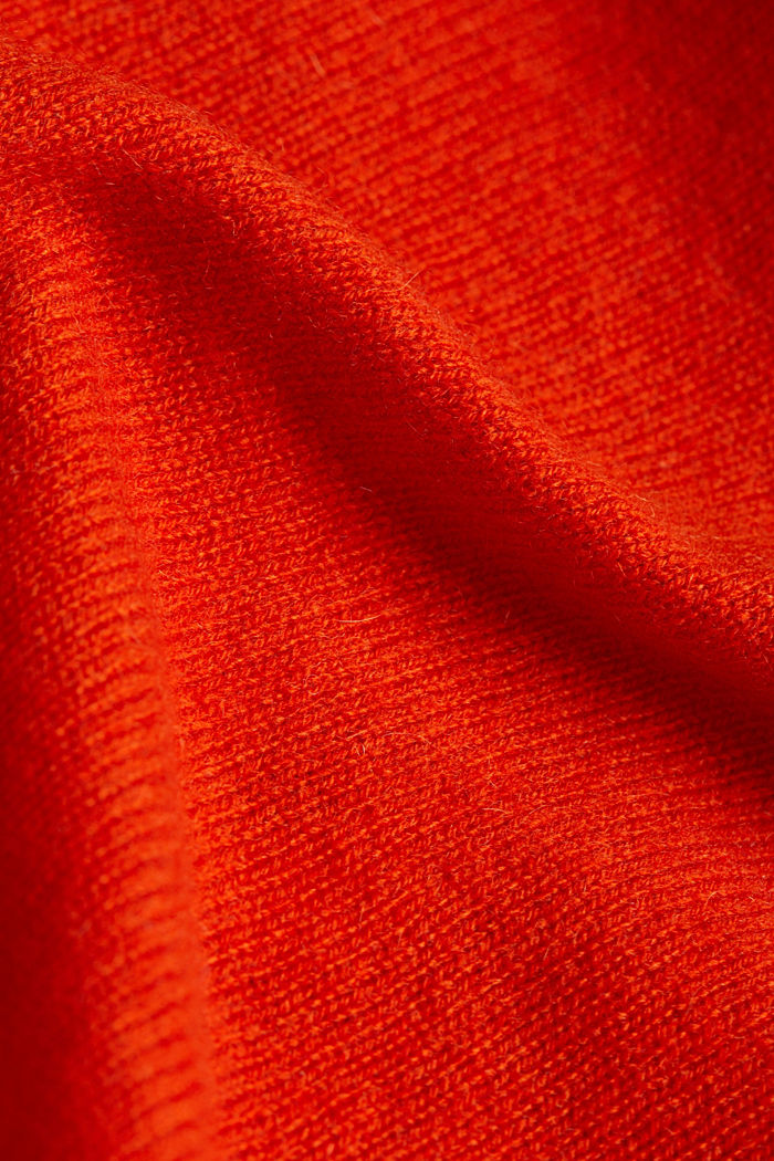 100% cashmere: Jumper with batwing sleeves, RUST ORANGE, detail image number 4
