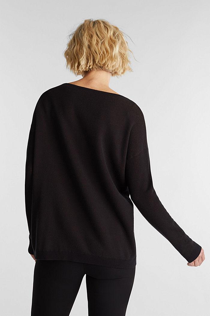 100% cotton jumper, BLACK, detail image number 3