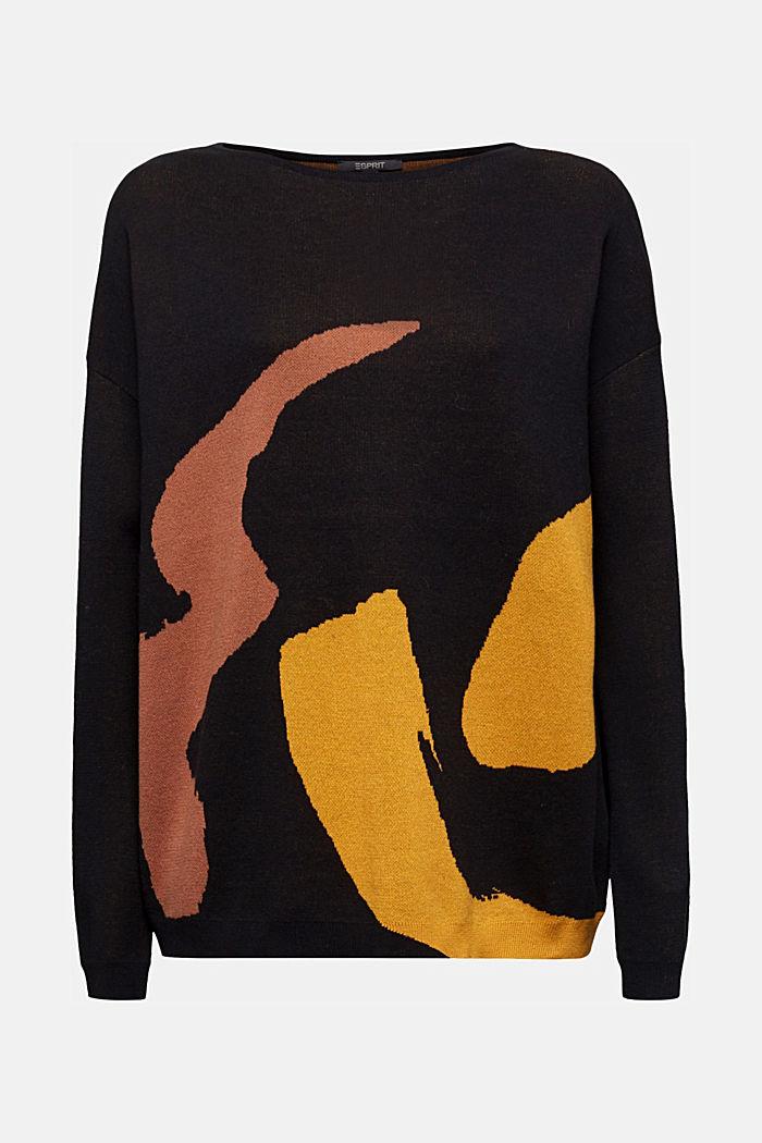 100% cotton jumper, BLACK, detail image number 6