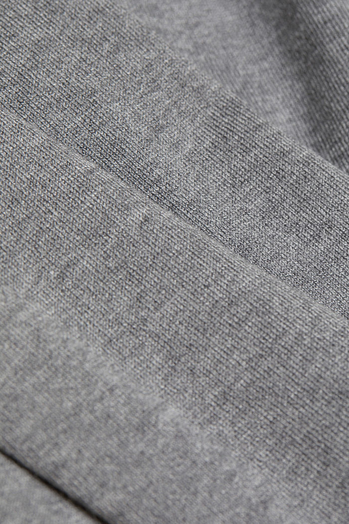 Polo neck jumper in LENZING™ ECOVERO™, GUNMETAL, detail image number 4