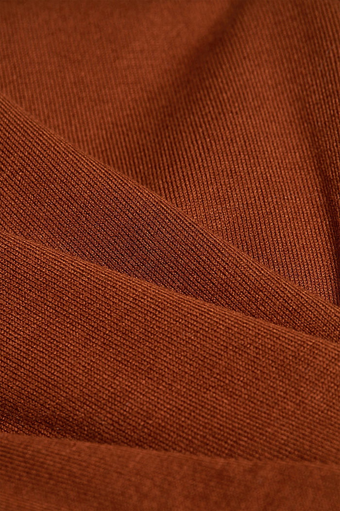 Polo neck jumper in LENZING™ ECOVERO™, TOFFEE, detail image number 4