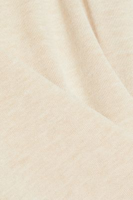 Polo neck jumper in LENZING™ ECOVERO™, SAND 5, detail