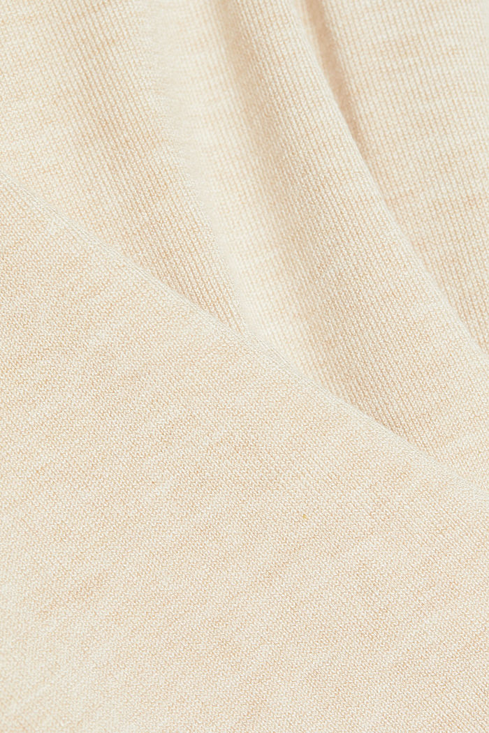Polo neck jumper in LENZING™ ECOVERO™, SAND, detail image number 4