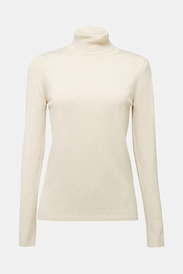Polo neck jumper in LENZING™ ECOVERO™