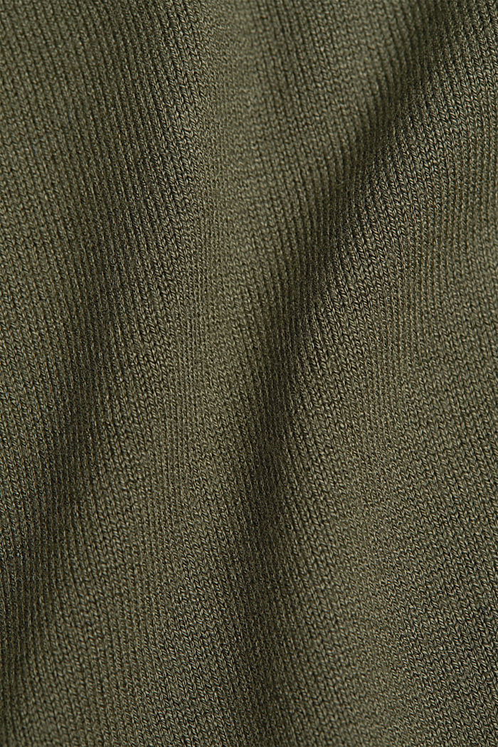 Polo neck jumper in LENZING™ ECOVERO™, KHAKI GREEN, detail image number 4