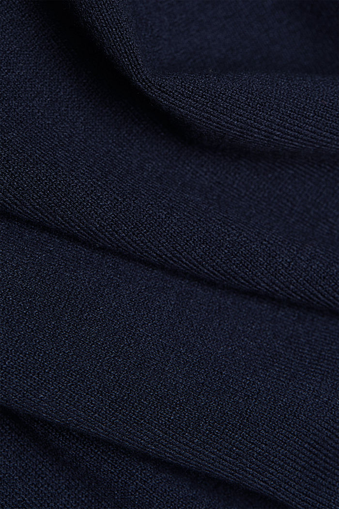 Polo neck jumper in LENZING™ ECOVERO™, NAVY, detail image number 4