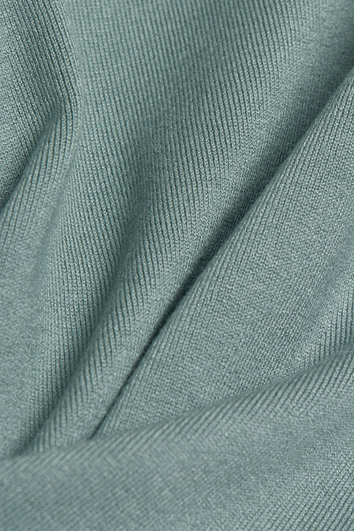 Polo neck jumper in LENZING™ ECOVERO™, GREY BLUE, detail image number 3