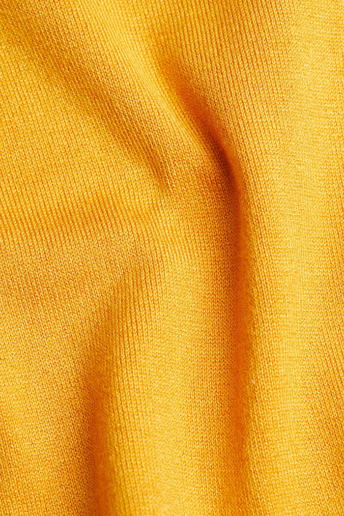 Polo neck jumper in LENZING™ ECOVERO™, HONEY YELLOW, detail image number 4