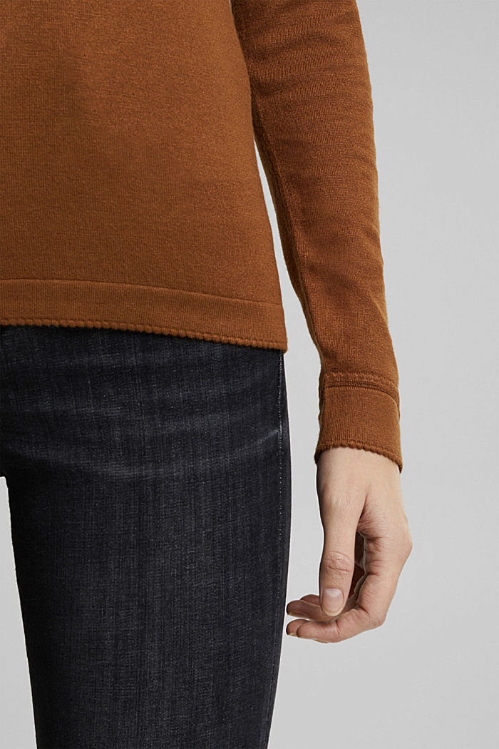 Jumper containing LENZING™ ECOVERO™, TOFFEE, detail image number 4