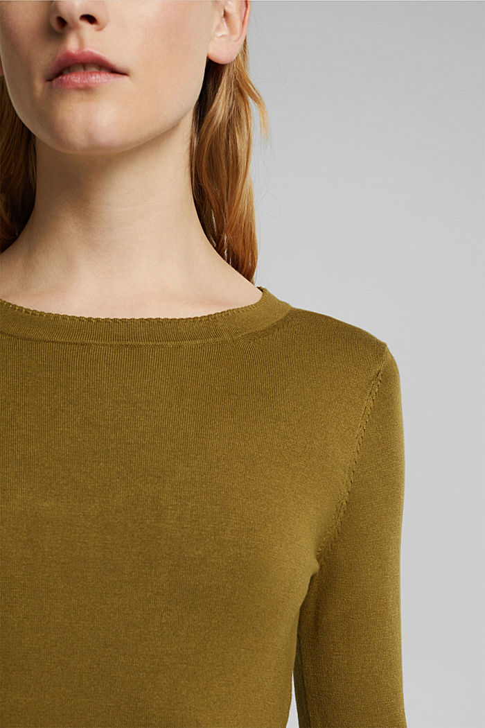 Jumper containing LENZING™ ECOVERO™, OLIVE, detail image number 2