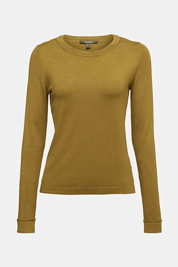 Jumper containing LENZING™ ECOVERO™, OLIVE, detail image number 7