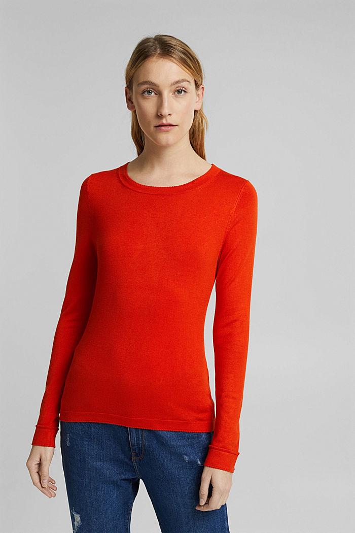 Pullover mit  LENZING™ ECOVERO™, RUST ORANGE, detail image number 0