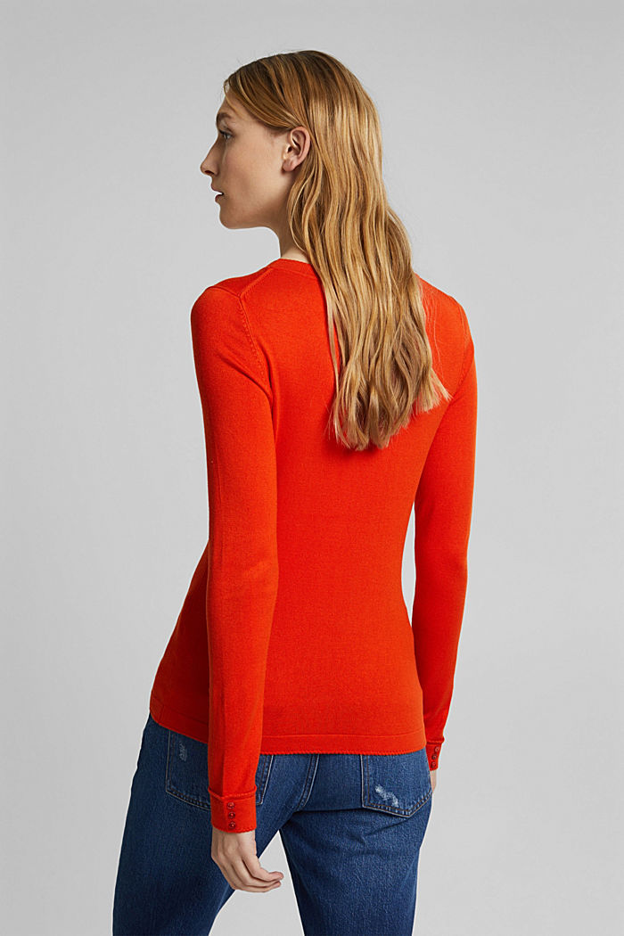 Jumper containing LENZING™ ECOVERO™, RUST ORANGE, detail image number 3
