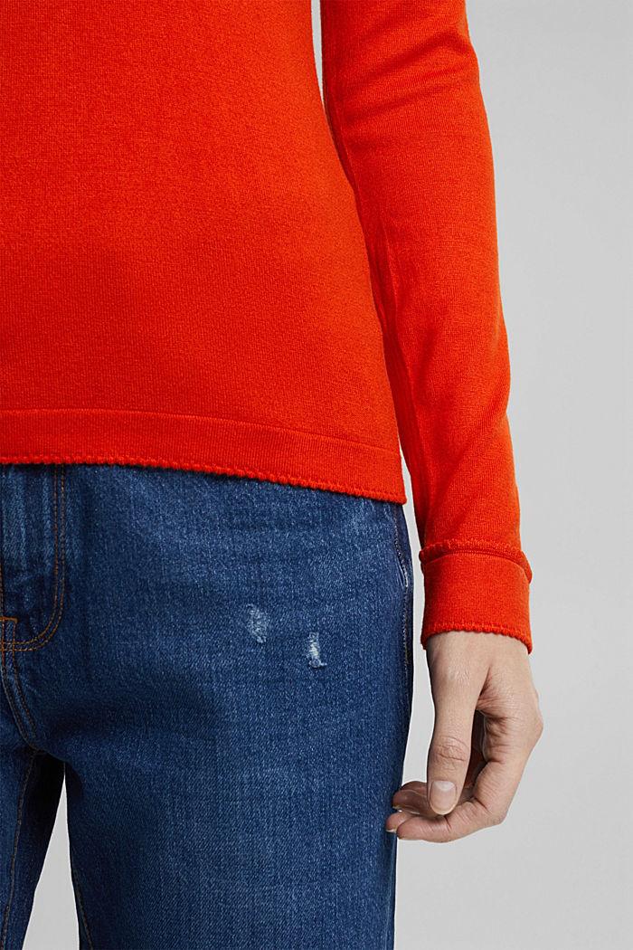 Pullover mit  LENZING™ ECOVERO™, RUST ORANGE, detail image number 4