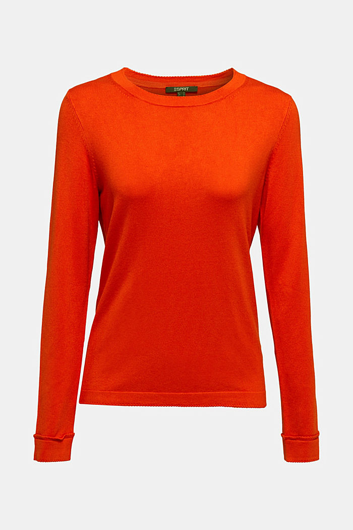 Jumper containing LENZING™ ECOVERO™, RUST ORANGE, detail image number 7