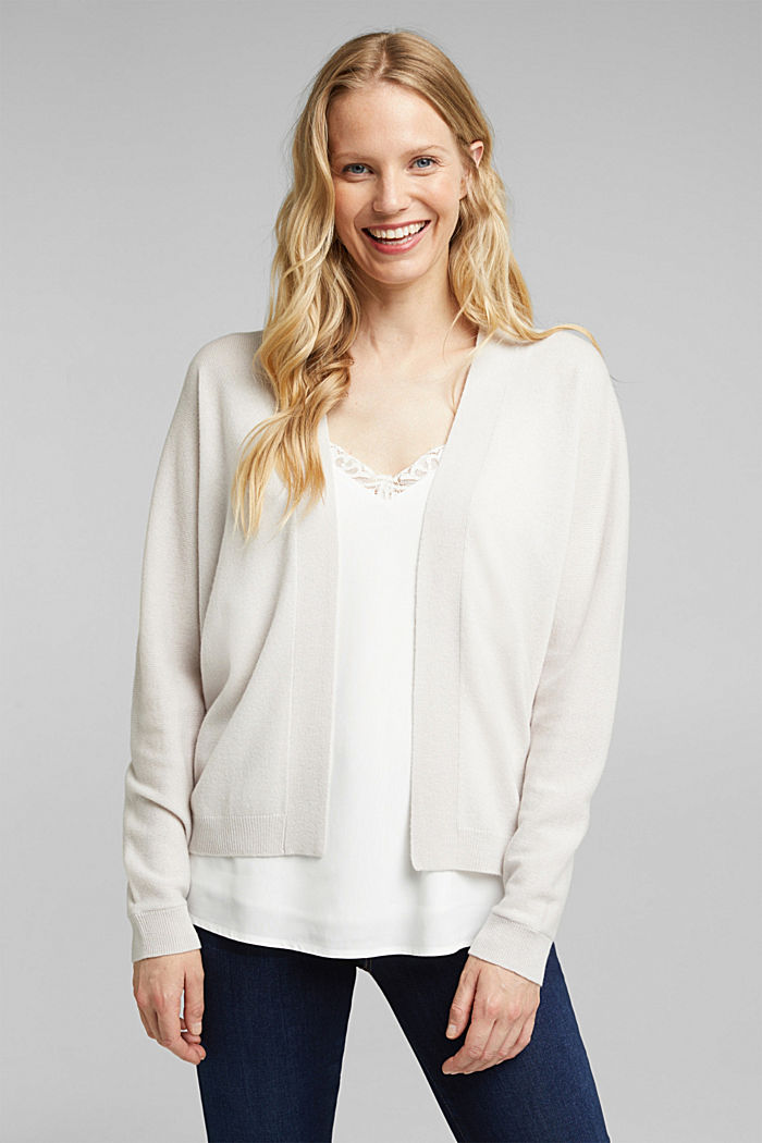 Open cardigan made of 100% cashmere