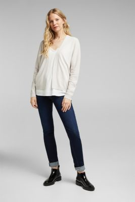 Open cardigan made of 100% cashmere, ICE, detail