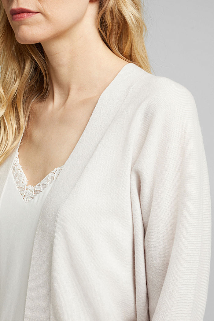 Open cardigan made of 100% cashmere, ICE, detail image number 2