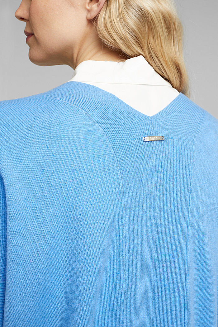 Open cardigan made of 100% cashmere, BLUE, detail image number 2