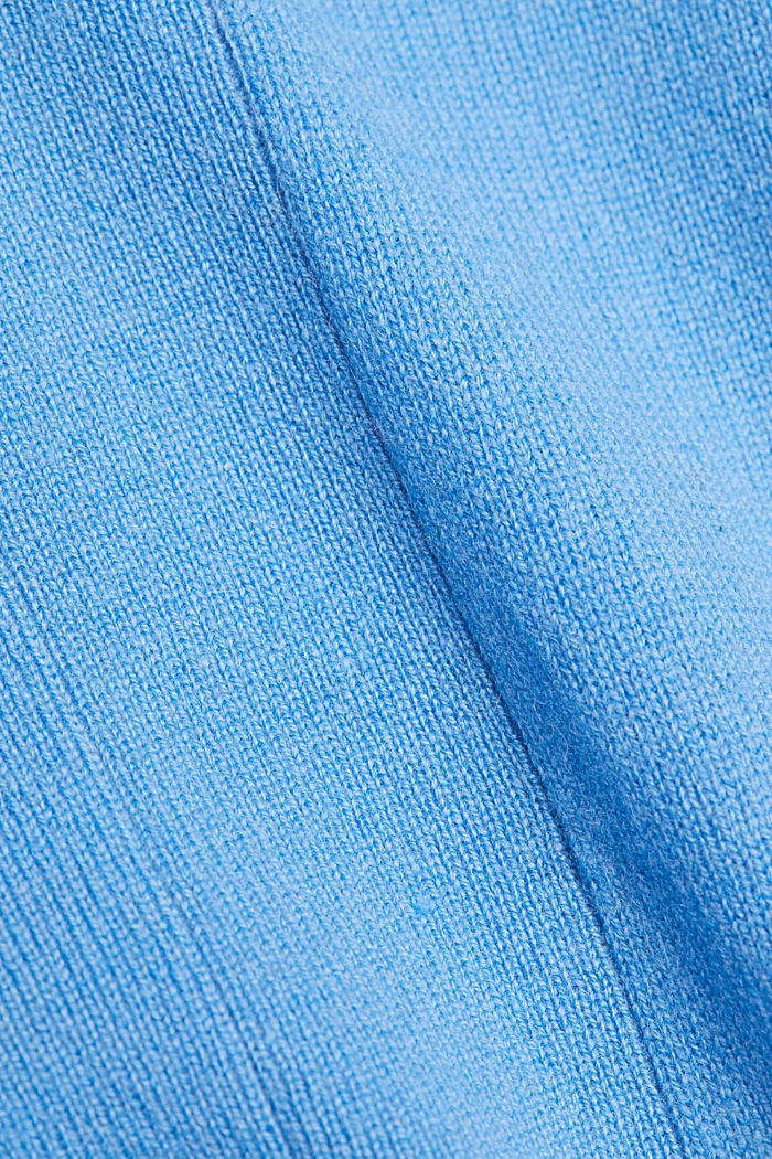 Open cardigan made of 100% cashmere, BLUE, detail image number 4