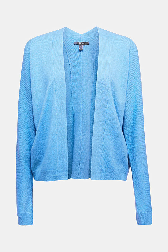 Open cardigan made of 100% cashmere, BLUE, detail image number 5