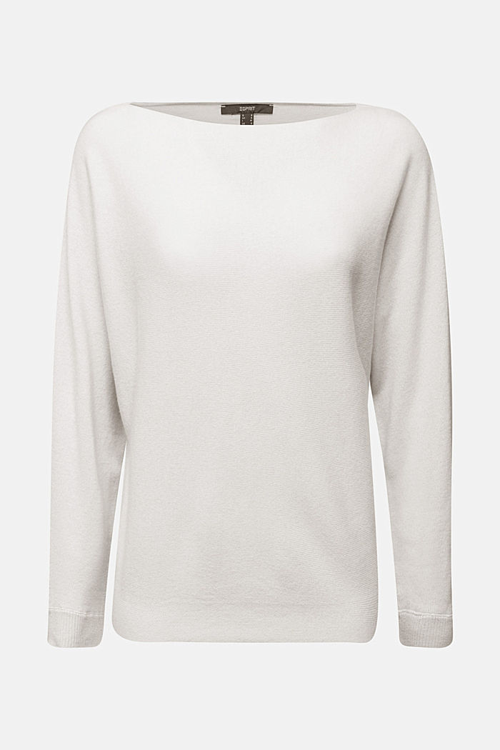 Made of 100% cashmere: jumper with batwing sleeves, ICE, detail image number 7