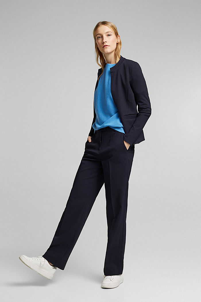 Made of 100% cashmere: jumper with batwing sleeves, BLUE, detail image number 1