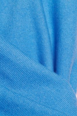 Made of 100% cashmere: jumper with batwing sleeves, BLUE, detail