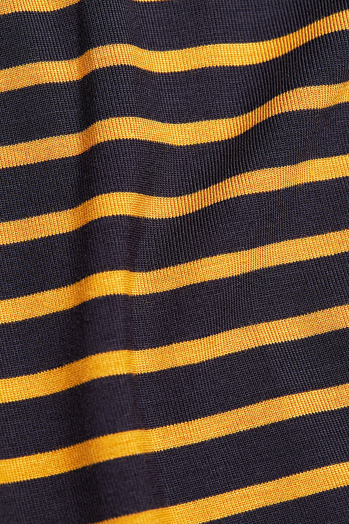 Long sleeve polo neck shirt with stripes, NAVY, detail image number 4