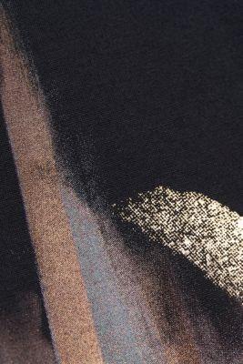Long sleeve top with an artwork print, LENZING™ ECOVERO™, BLACK, detail