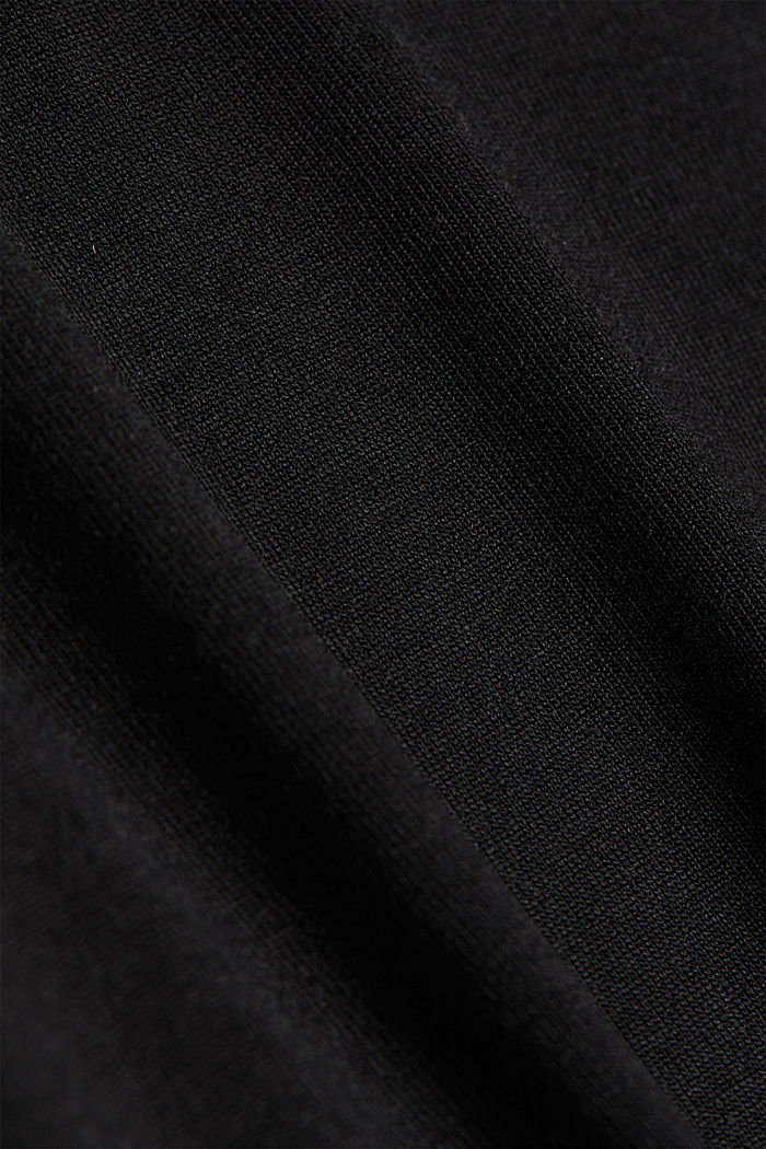 Long sleeve top made of LENZING™ ECOVERO™, BLACK, detail image number 4