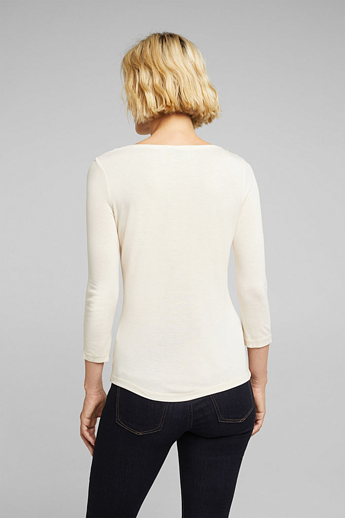 Long sleeve top made of LENZING™ ECOVERO™, SAND, detail image number 3